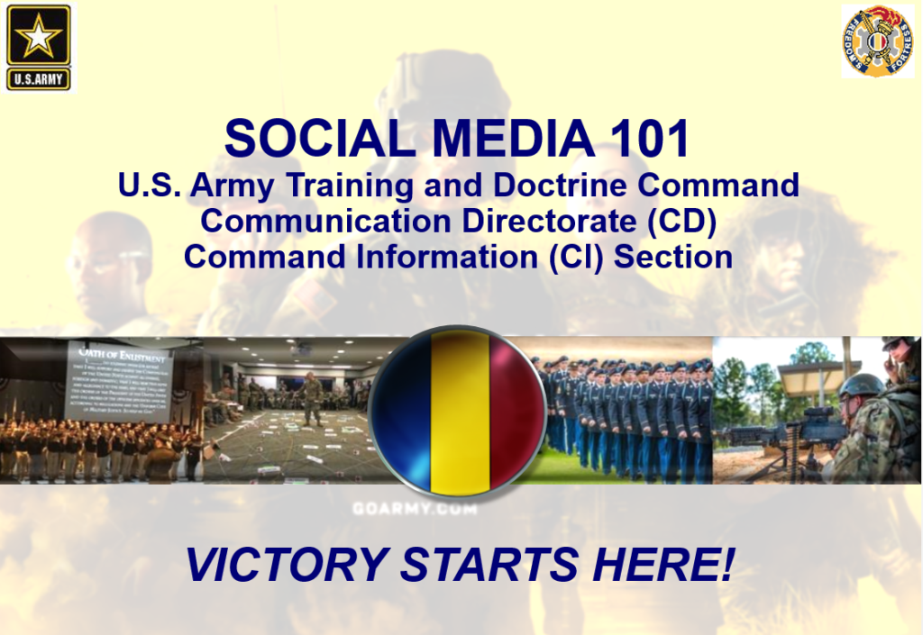 Social Media Training for U.S. Army Training and Doctrine Command